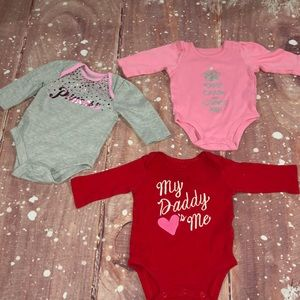 Carter's One Pieces - Baby Girl 3 Month Lot Of 12 Carters Onesies
